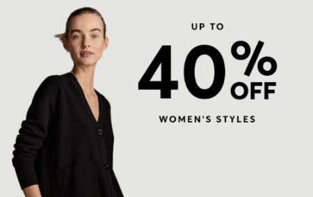 Up to 40% Off Women's Styles from Boss