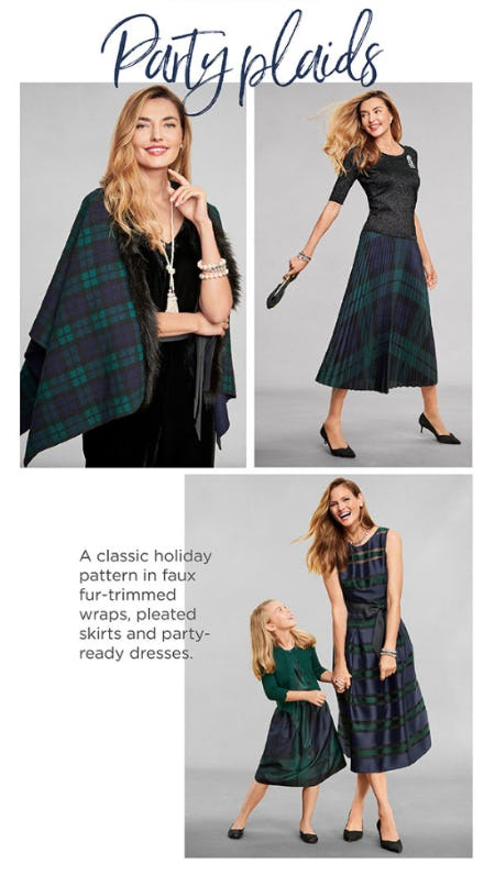 The Party Plaids from Talbots