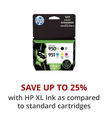Up to 25% Off with HP XL Ink from Office Depot