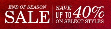 Up to 40% Off End of Season Sale from JOHNSTON & MURPHY