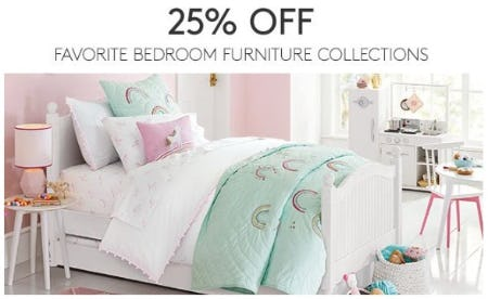 25 Off Favorite Bedroom Furniture Collections At Pottery Barn Kids