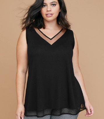 Mesh Inset Swing Tank from Lane Bryant