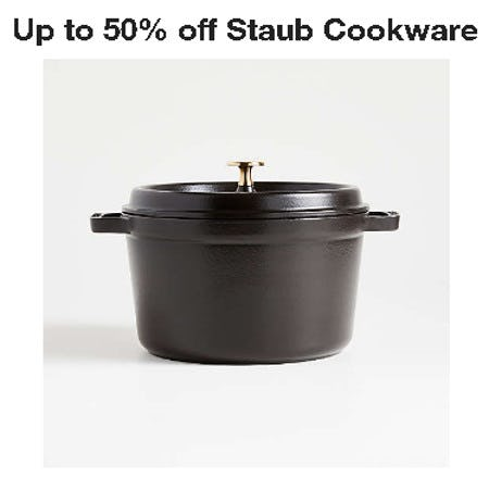 Up to 50% Off Staub Cookware from Crate & Barrel