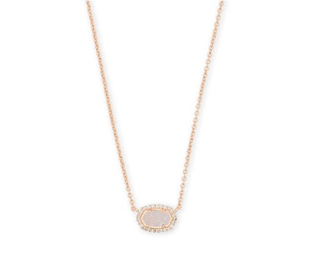 Chelsea Rose Gold Pendant Necklace In Iridescent Drusy from Kendra Scott
