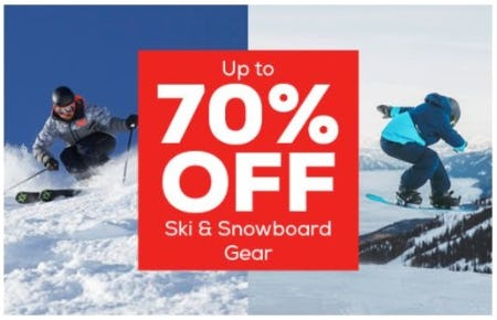Up to 70% Off Ski and Snowboard Gear