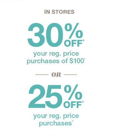 30% Off with $100 Purchase from maurices