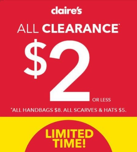 All Clearance $2 or Less from Claire's