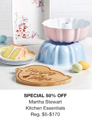 50% Off Martha Stewart Kitchen Essentials