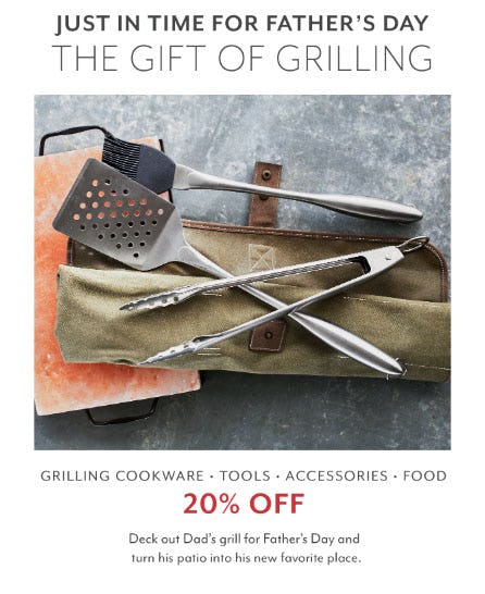 20% Off Grilling Sale from Sur La Table
