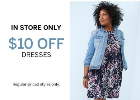 $10 Off Dresses from Dress Barn, Misses And Woman