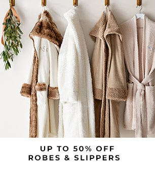 Up to 50% Off Robes & Slippers from Pottery Barn