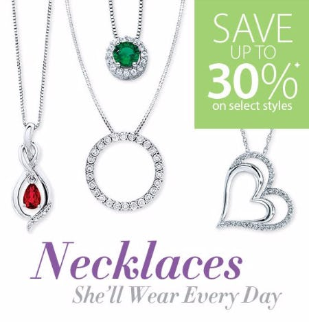 Up to 30% Off Select Necklaces