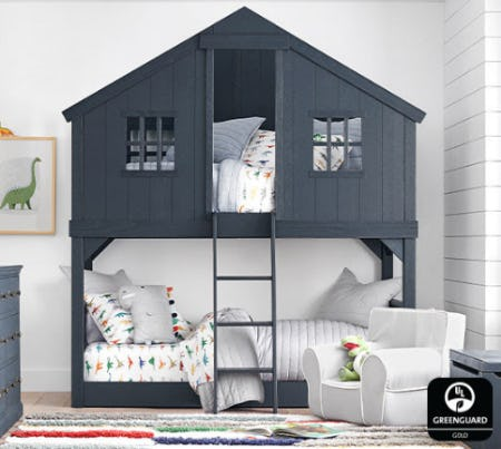 Treehouse Twin-Over-Twin Bunk Bed from Pottery Barn Kids