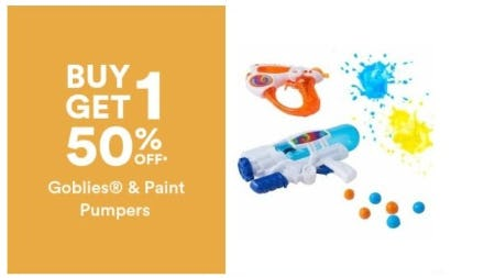 BOGO 50% Off Goblies and Paint Pumpers from Michaels
