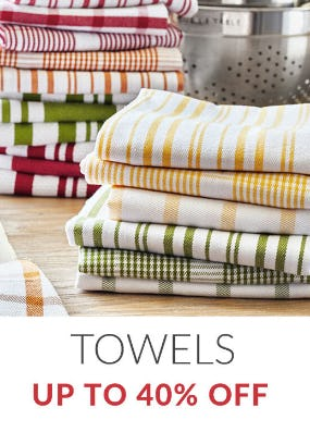 Up to 40% Off Towels from Sur La Table