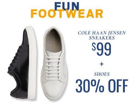 $99 Cole Haan Jensen Sneakers & 30% Off Shoes from Men's Wearhouse