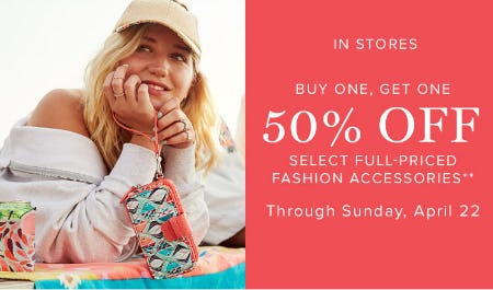 BOGO 50% Off Fashion Accessories from Vera Bradley