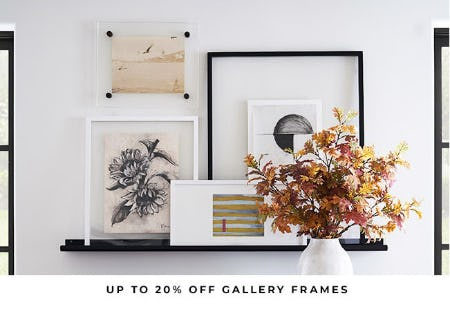 Up to 20% Off Gallery Frames from Pottery Barn