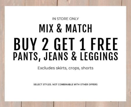 B2G1 Free Pants, Jeans & Leggings