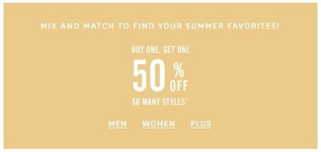 BOGO 50% Off So Many Styles