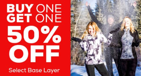 Buy One, Get One 50% Off on Select Base Layers