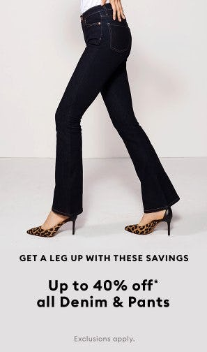 Up to 40% Off All Denim & Pants