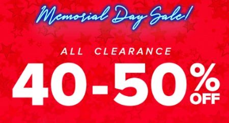 40-50% Off Memorial Day Sale from Rainbow