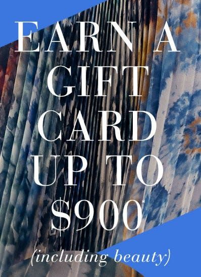 Earn a Gift Card Up to $900 from Saks Fifth Avenue