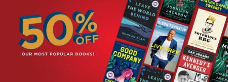 50% Off on Our Most Popular Books from Books-A-Million