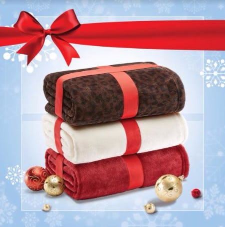 Receive a Free Blanket With Any $150 Purchase or More