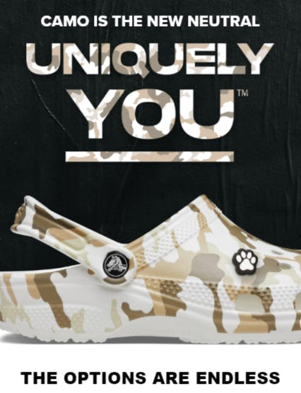 Fresh, White-Hot Camo Has Arrived from Crocs