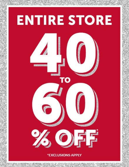 Entire Store 40 to 60% Off from The Children's Place