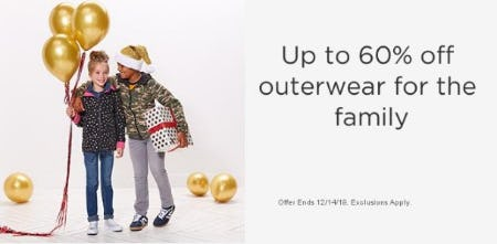 Up to 60% Off Outerwear for the Family from Sears