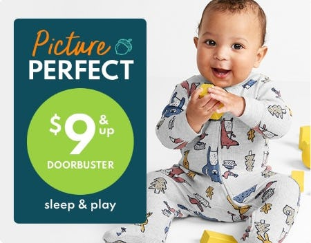 $9 & Up Doorbuster Sleep & Play from Carter's