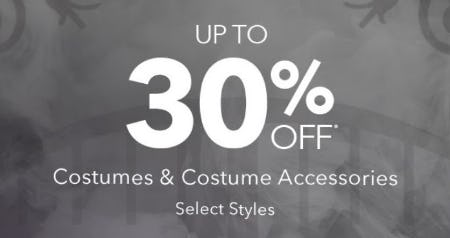 Up to 30% Off Costumes & Costumes Accessories from Disney Store