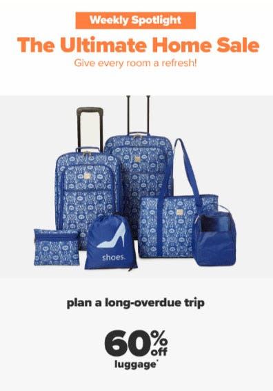 60% Off Luggage from Belk