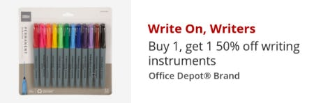 BOGO 50% Off on Writing Instruments from Office Depot