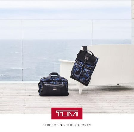 Explore Alpha Bravo in New Blue Camouflage from TUMI