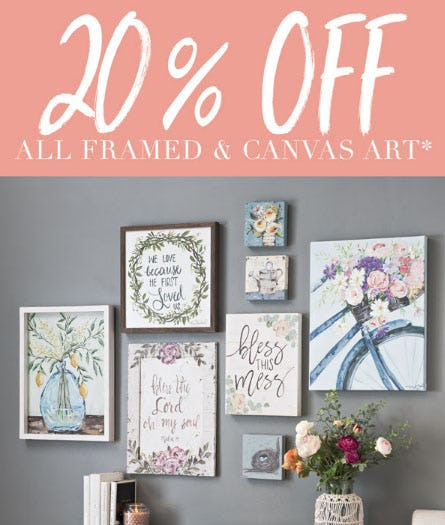 20% Off All Framed & Canvas Art from Kirkland's