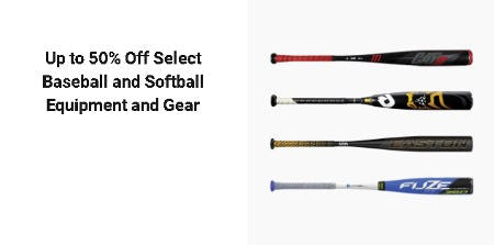 Up to 50% Off Select Baseball and Softball Equipment and Gear from Dick's Sporting Goods