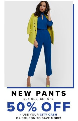 New Pants Buy One, Get One 50% Off from New York & Company