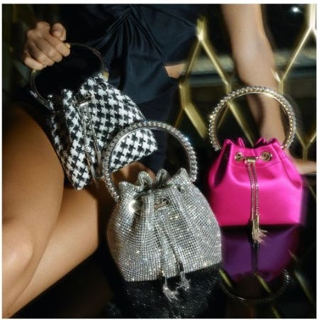 Handbags with Sparkling Finish from Jimmy Choo