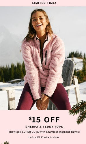 $15 Off Sherpa & Teddy Tops from VICTORIA'S SECRET Beauty