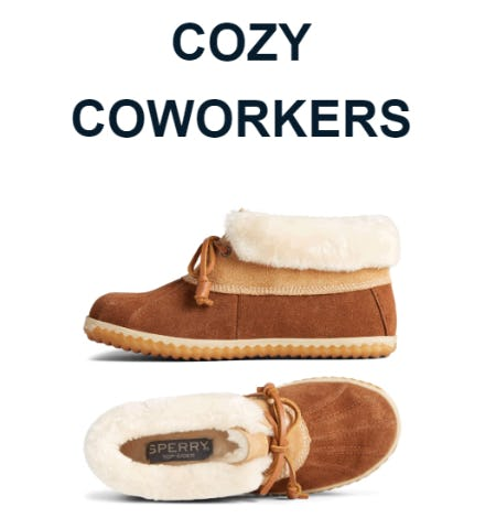 Cozy Coworkers from Sperry Top-Sider