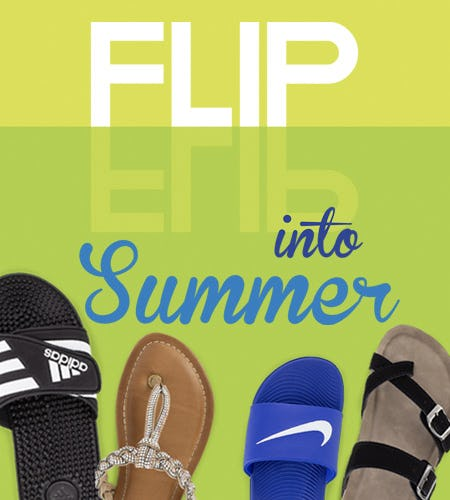 Flip into Summer from SHOE DEPT. ENCORE