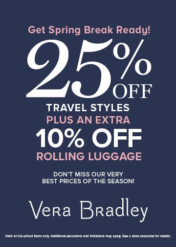 Get Spring Break Ready! from Vera Bradley