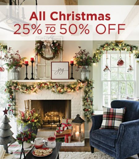 All Christmas 25% to 50% Off from Kirkland's