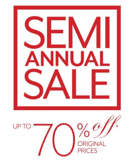 Semi Annual Sale up to 70% Off from White House Black Market