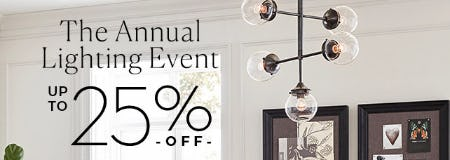 The Annual Lighting Event: Up to 25% Off from Pottery Barn