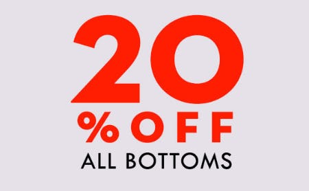 20% Off All Bottoms from Papaya
